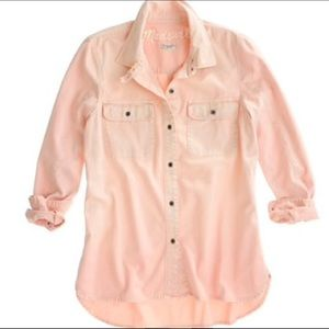 Madewell Pink Tomboy Workshirt in Large